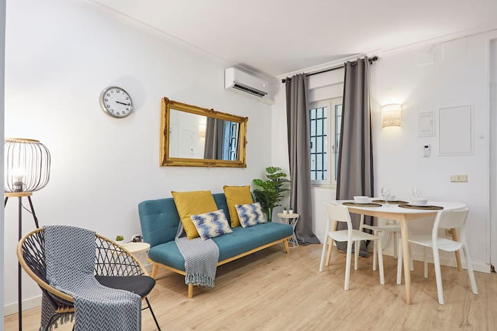Apt. S. Bernardo (MALASAÑA) ideal 4 WORK or FAMILY