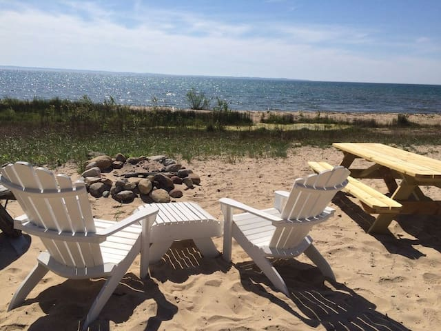Pet Friendly Lake Michigan Private Beach Cottage