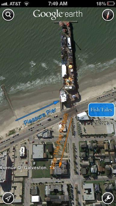 One block to Pleasure Pier