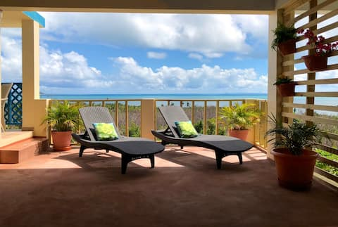 Amazing Caribbean Sea Views Private Apt w AC