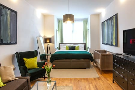 Modern family apt. with Central Square entrance