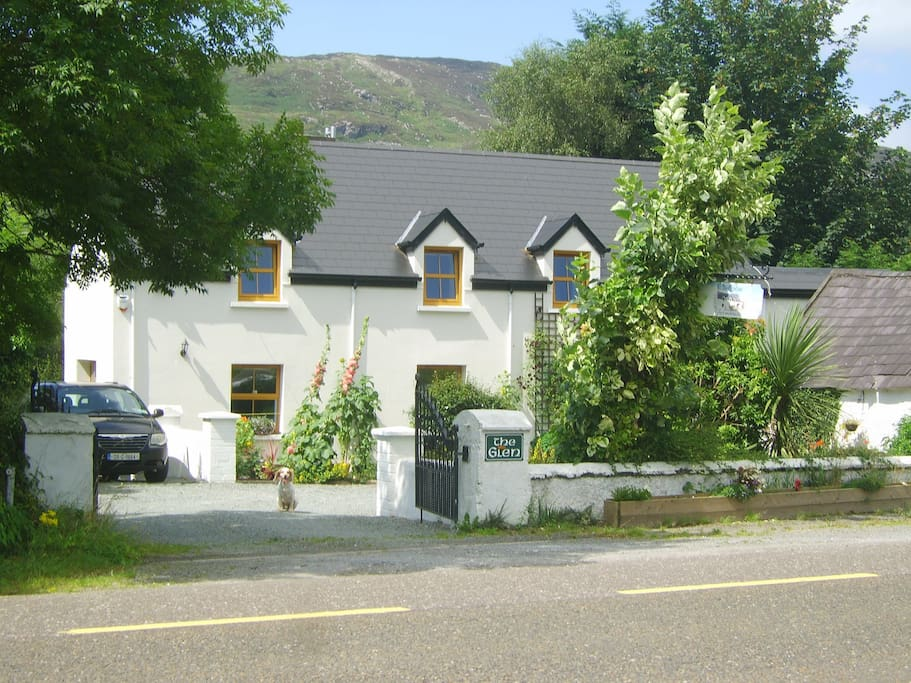 300 year old farmhouse, lovingly renovated, surrounded by beautiful views of the mountains and surrounding farmlands.