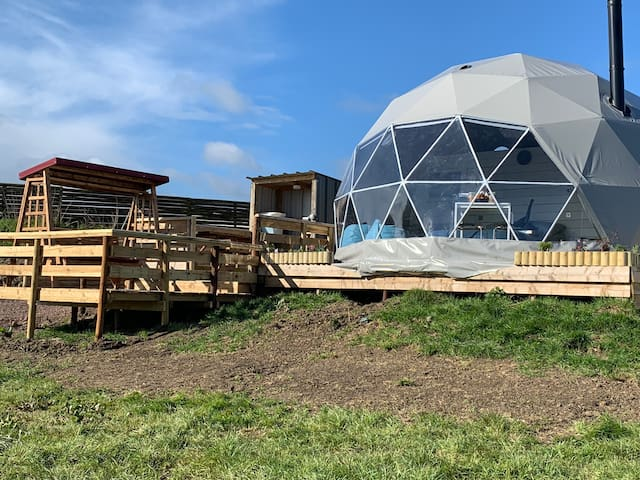 Luxurious Geodesic Dome 2 nr Jurassic coast &Spa