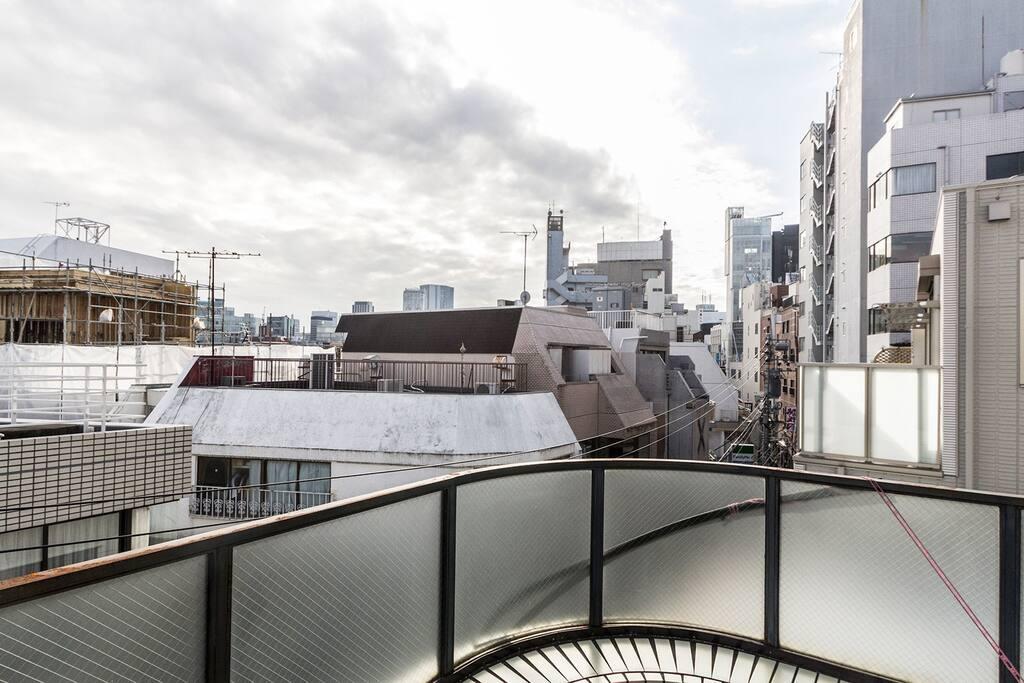 View over Harajuku main street. From the 2nd floor balcony