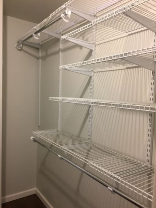 Walk-in closet with plenty of space