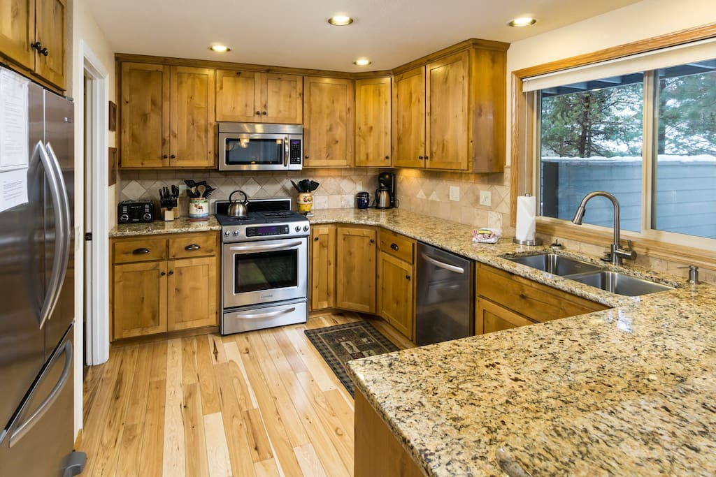 Well appointed kitchen including a Keurig with coffee included.
