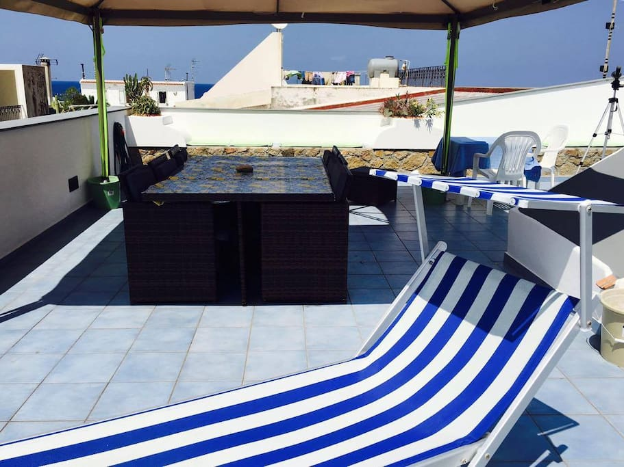 roof top table setting