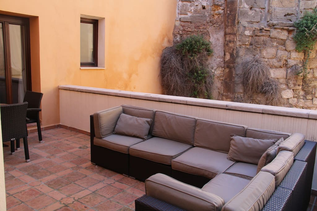 Furnished private terrace