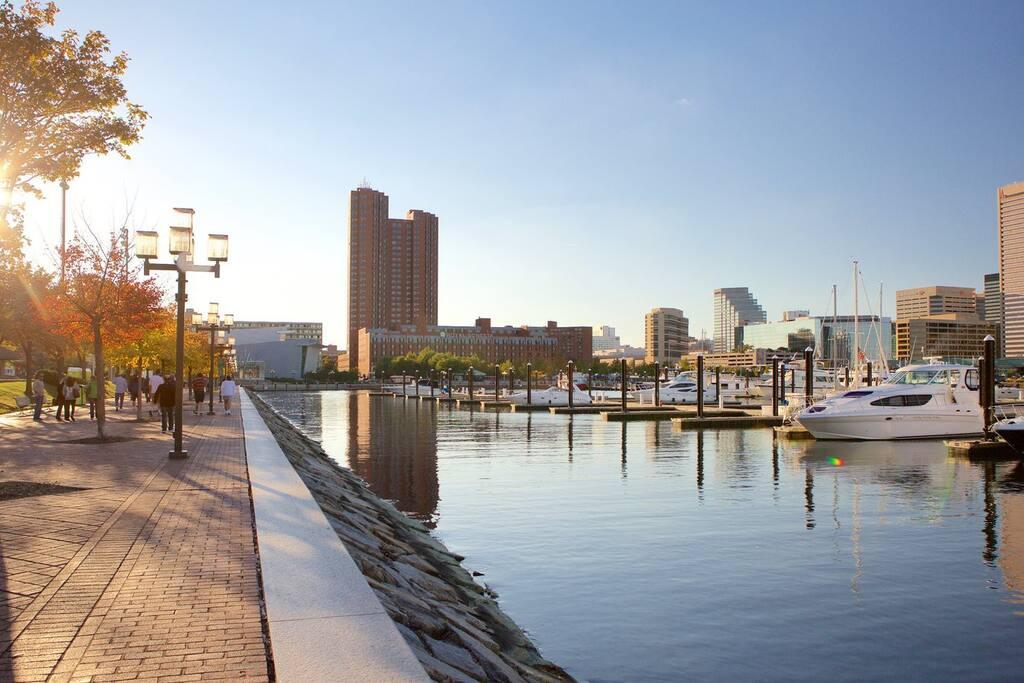 Steps to world Famous Baltimore Inner Harbor
