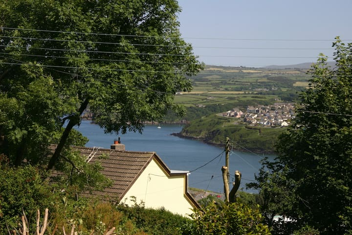 House with 1 acre wooded garden, near Fishguard