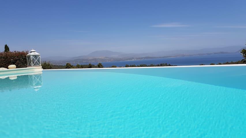 Big Blue Villa Porto Heli with Amazing View