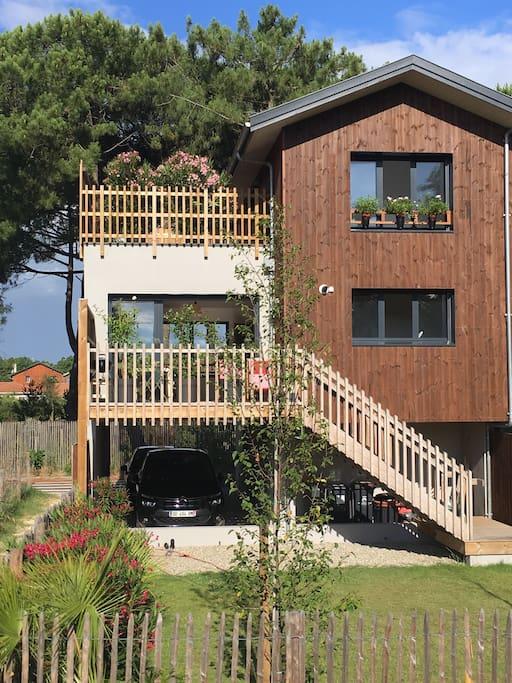 Maison typique du bassin dans le quartier du port de La Teste à 5 minutes d'Arcachon