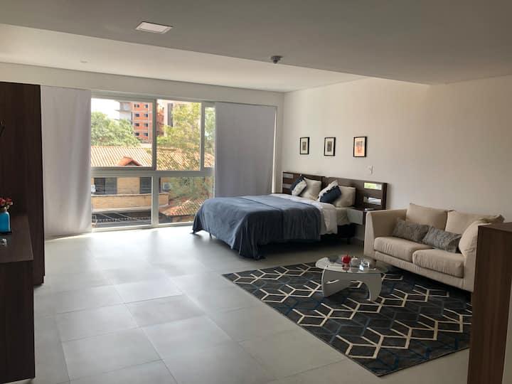 Amplio loft,mejor zona Asuncion,c garage,60 mts