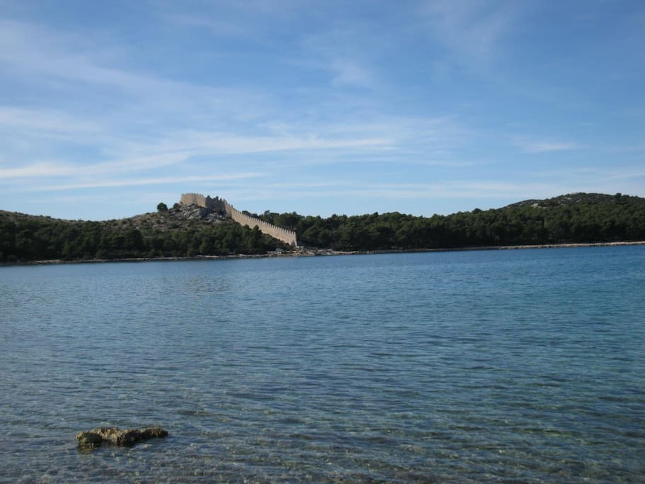10 minute walk from Grebaštica, ancient ruins and nature park.