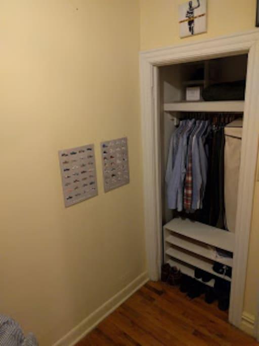 Closet to hang clothes