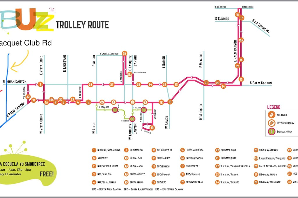 The Buzz Trolley route is just a little over 1/2 mile walk from the Condo, making it easy to get to central PS. The Buzz runs F, Sat & Sun