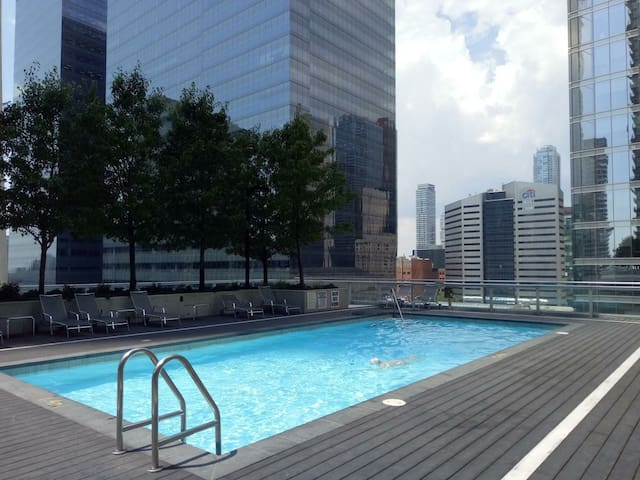 Outdoor swimming pool  view 10th floor