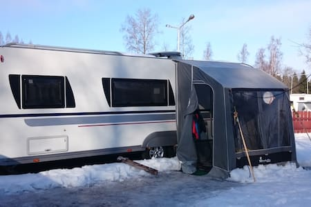 Newer spacious caravan 8 km from Lahti Ski Stadium - Hollola