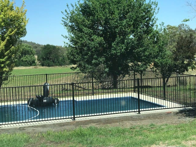 10m fenced pool available for guests to use.