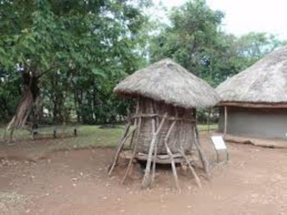 Traditional maize store .