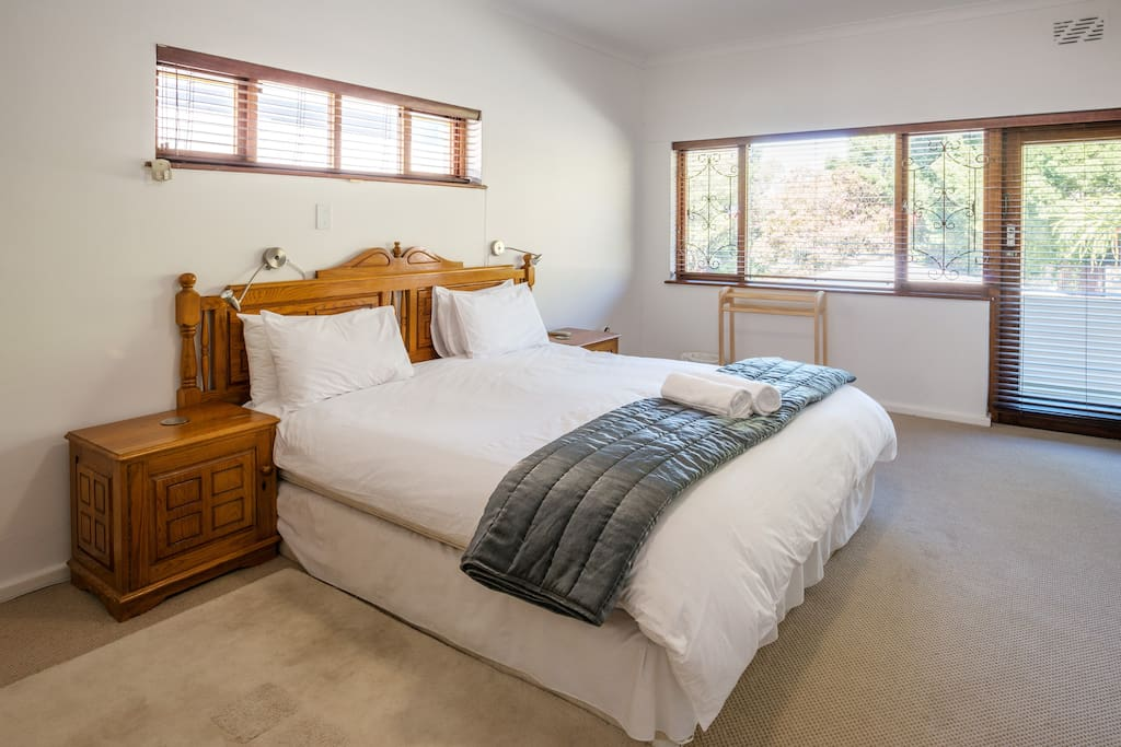Master bedroom with king bed, BIC and AC