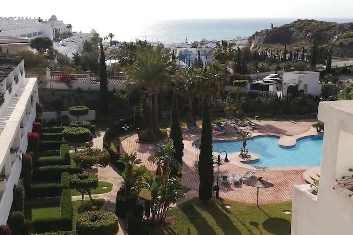 Mojacar seaside Fun apartment with POOL