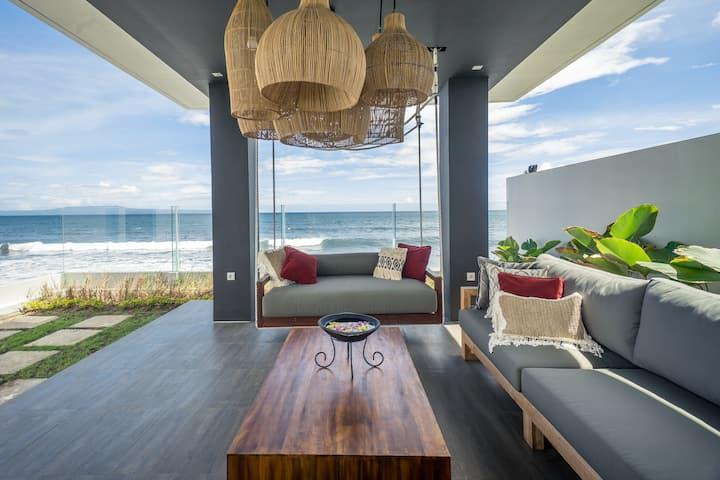 Modern Tropical Beachfront 3BR Villa