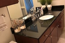 Spacious and stylish bathroom