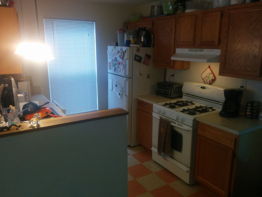The kitchen, fully stocked