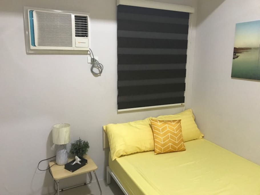 Queen Size Bed with AC Unit