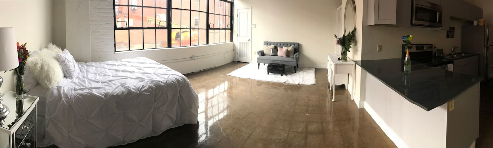 Renovated modern studio in Warehouse District