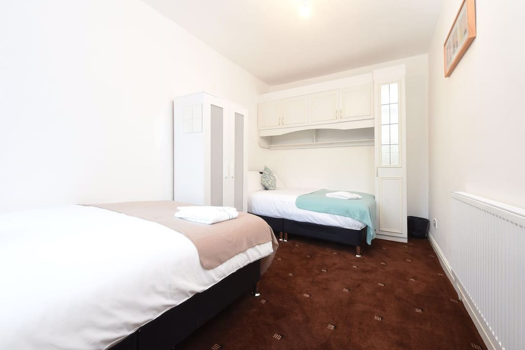 Bedroom 1: two double beds