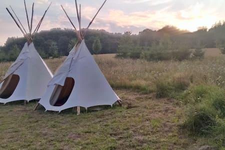 Be wild! Riesen-Tipi im Naturgarten - Zirkow - Tipi (indián sátor)
