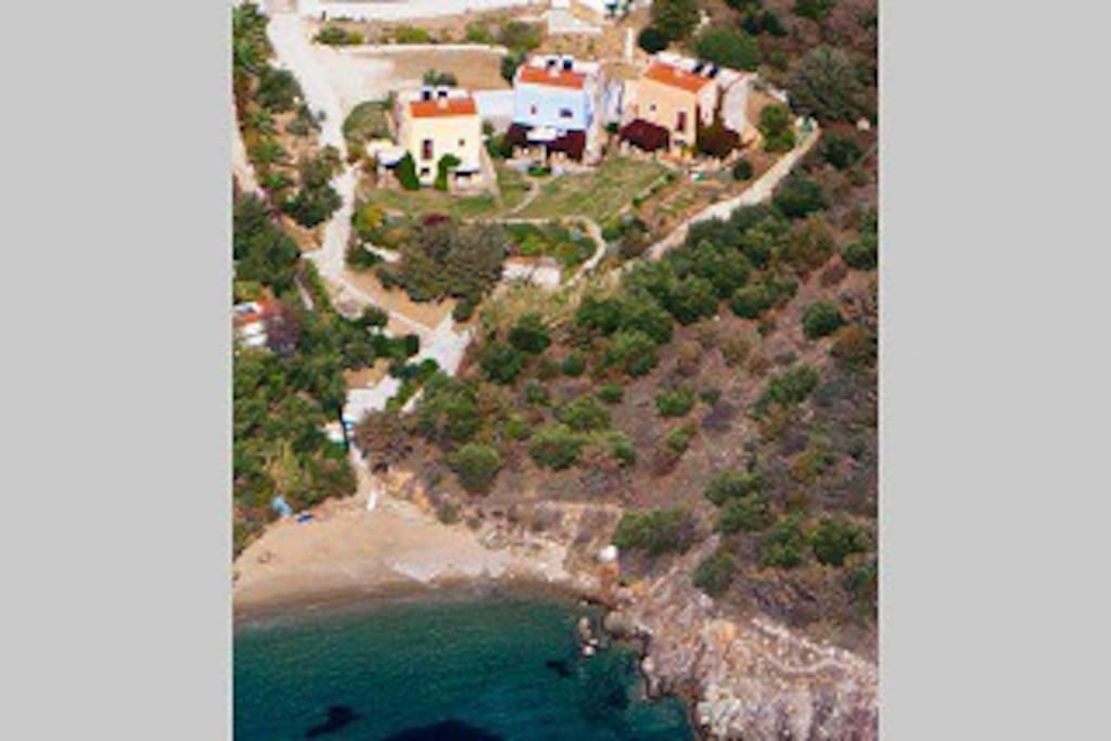 """Air picture """"houses and Anchor Beach"""