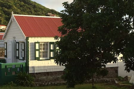 Traditional Saban Wooden Cottage - Windward Side