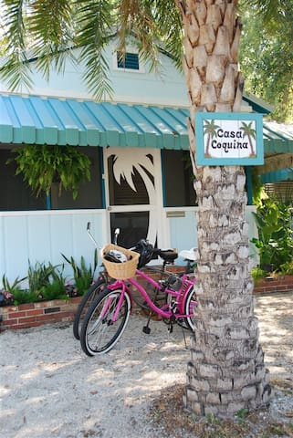 Get around like a local.  Complimentary beach cruisers with basket, helmets and lock are available, just ask your host.