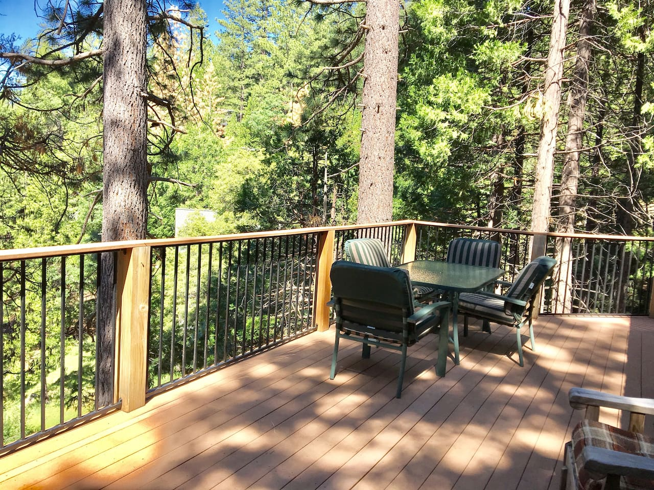 A secluded deck is a perfect spot.