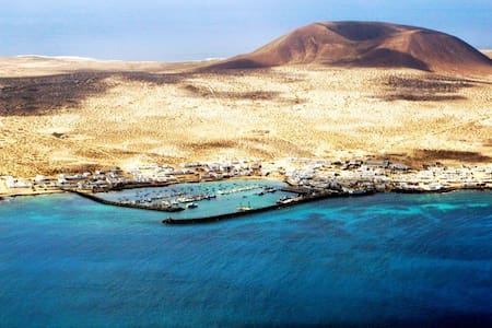 The lighthouse Family house, La Graciosa