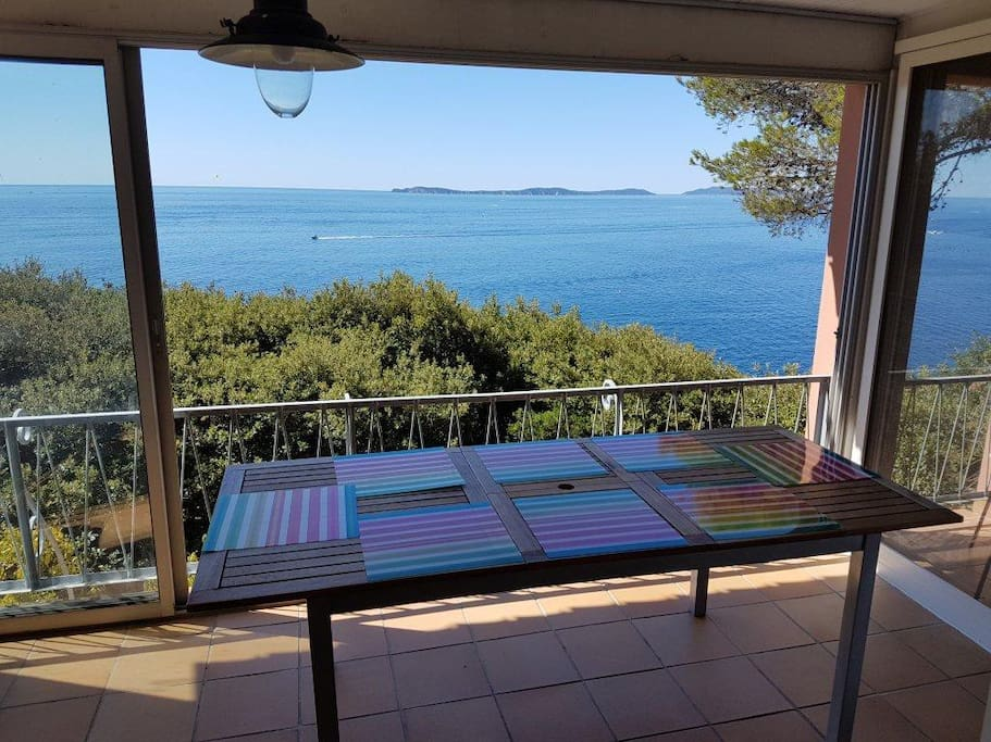 Veranda panoramic sea view