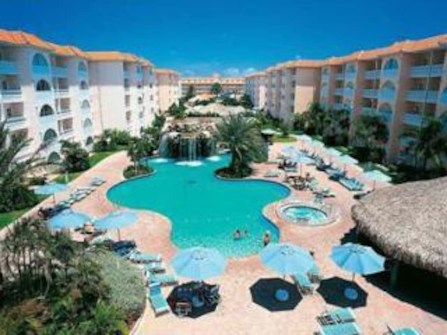 Trop features two huge pools...One with a waterfall & plenty of umbrellas to relax under or catch some Zzzz'sss...