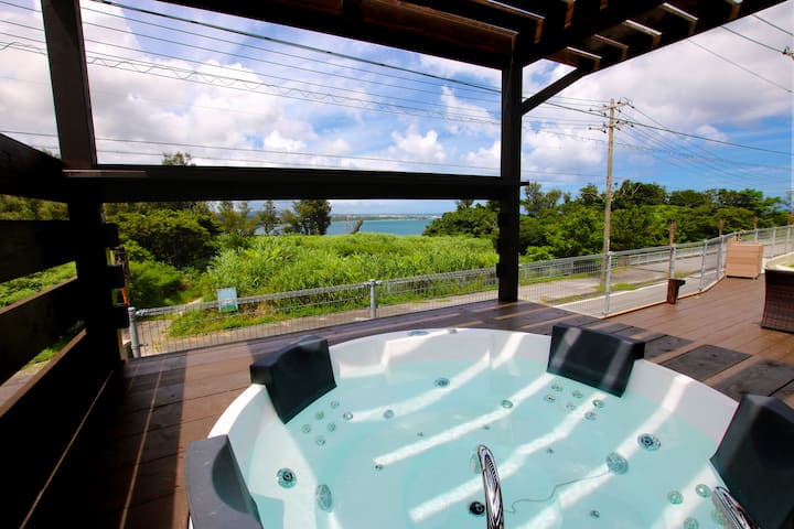 NEW★Jacuzzi Ocean view★BBQ★3BR/2bathroom