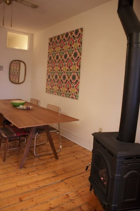 Dining room and workspace