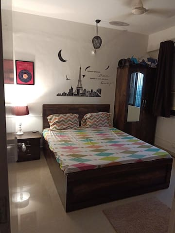 Fully furnished 1 BHK flat available at Bhaktipark