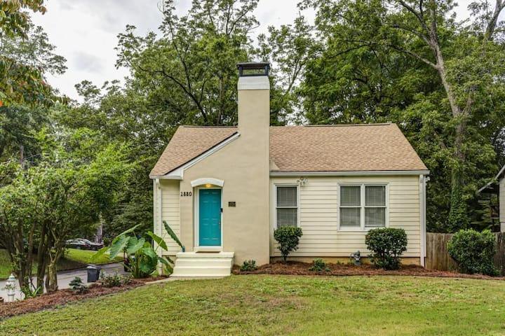 Historic home and large backyard