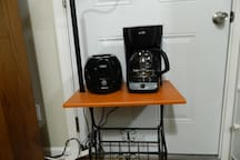 Toaster and coffee maker