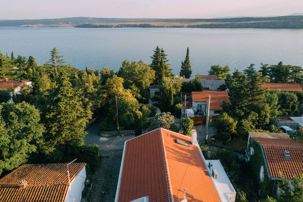 Aerial view from the Villa