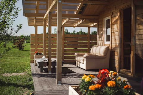 Tiny house, star roof, sauna, peaceful, nature