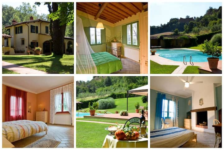 VILLA TERRA NOVA  Rooms Pool and Garden in Tuscany