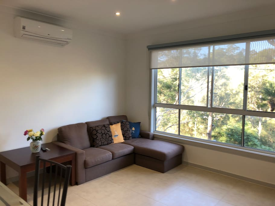 Humble sofa with Lane Cove River view