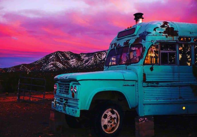 Tortilla Bus at Shanti Community in Madrid, NM